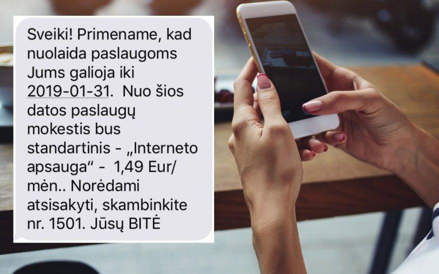 Жительницу Вильнюса удивило полученное сообщение: может стоит предупредить пользователей?