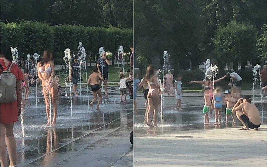 Ответ полиции после жарких дискуссий: ходить в купальнике не запрещено и на проспекте Гедиминаса