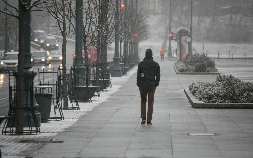 Синоптики предупреждают: в Литве будет ветрено и пойдет снег
