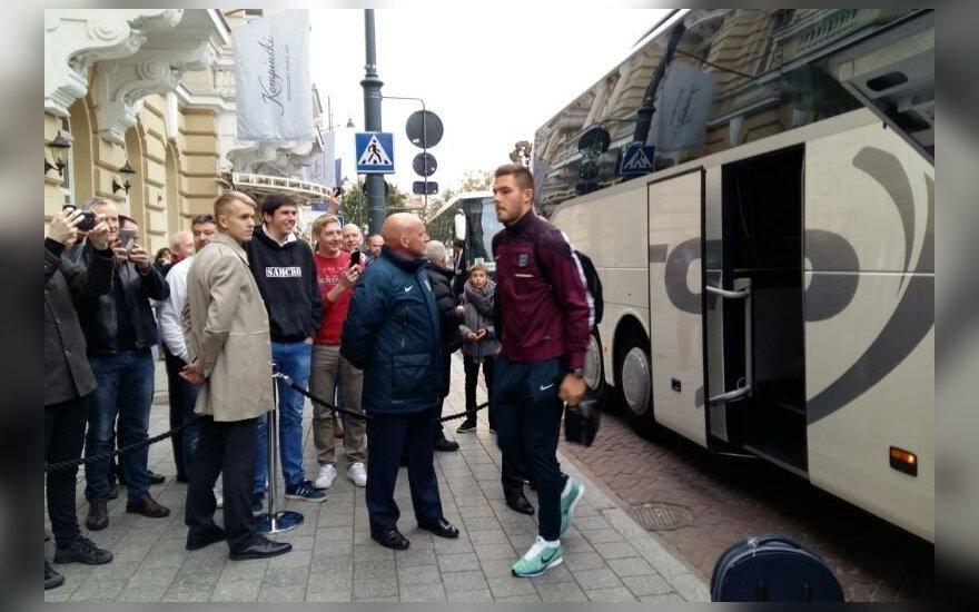 Anglijos futbolininkai atvyko į Lietuvą
