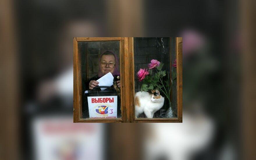 В Сочи избирателей массово подвозят для голосования