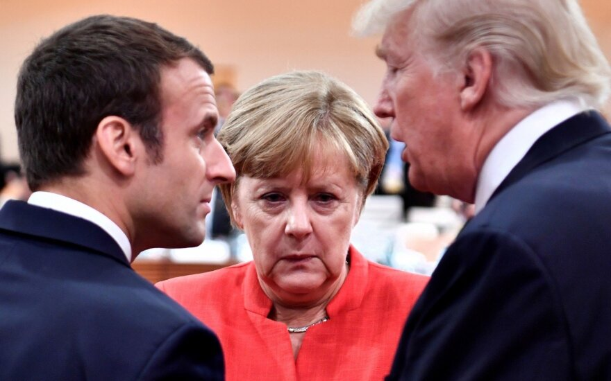 Emanuelis Macronas, Angela Merkel, Donaldas Trumpas