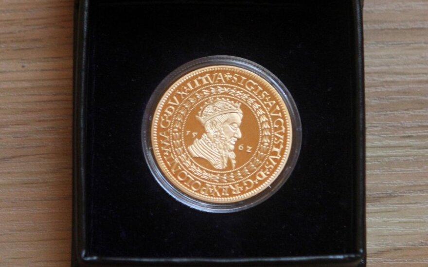 Išleista brangiausios Žygimanto Augusto laikų lietuviškos monetos replika