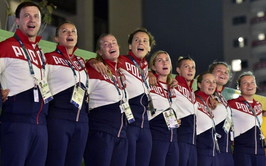 Rusijos sportininkai Rio olimpiniame kaimelyje