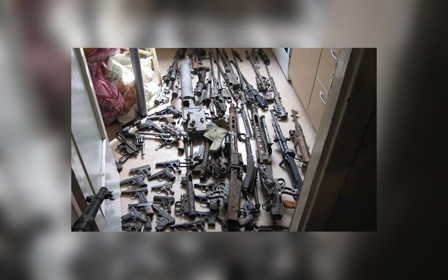 В доме жителя Раудондвариса – арсенал оружия