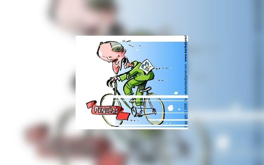 Кубилюс на велосипеде проедется по месту, где планируется Белорусская АЭС