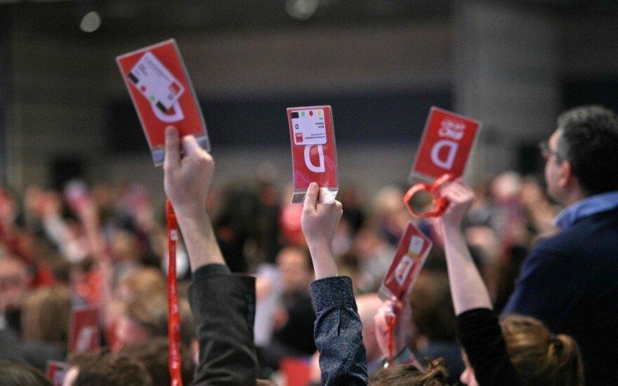 Socialdemokratų balsavimas Vokietijoje sekmadienį