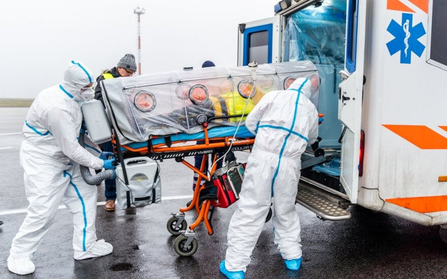 Civilinės saugos pratybos Vilniaus oro uoste