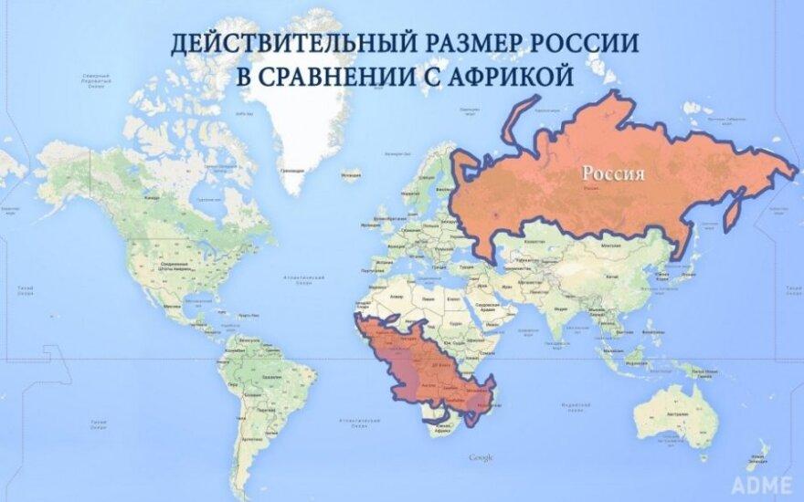 Realne wielkości na mapie