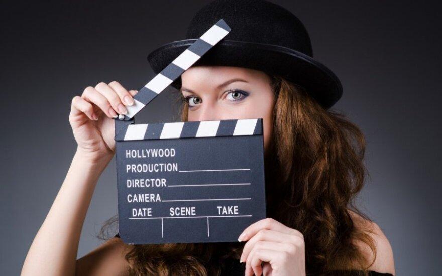 mergina, kinas, filmai