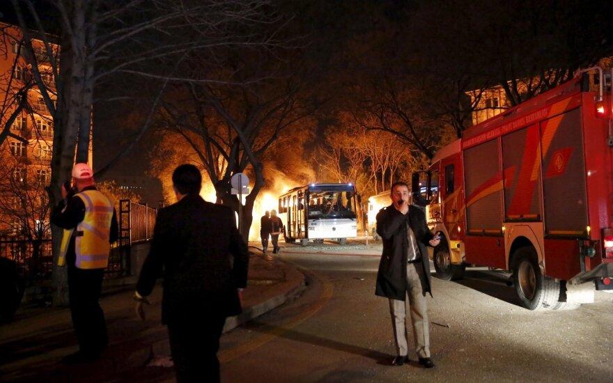 Сильный взрыв в центре Анкары