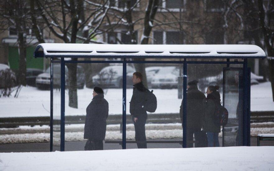 На части остановок общественного транспорта в Вильнюсе не работают электронные табло