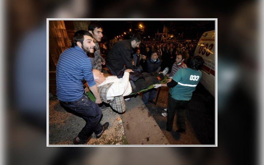 Грузинские оппозиционеры подрались с полицией