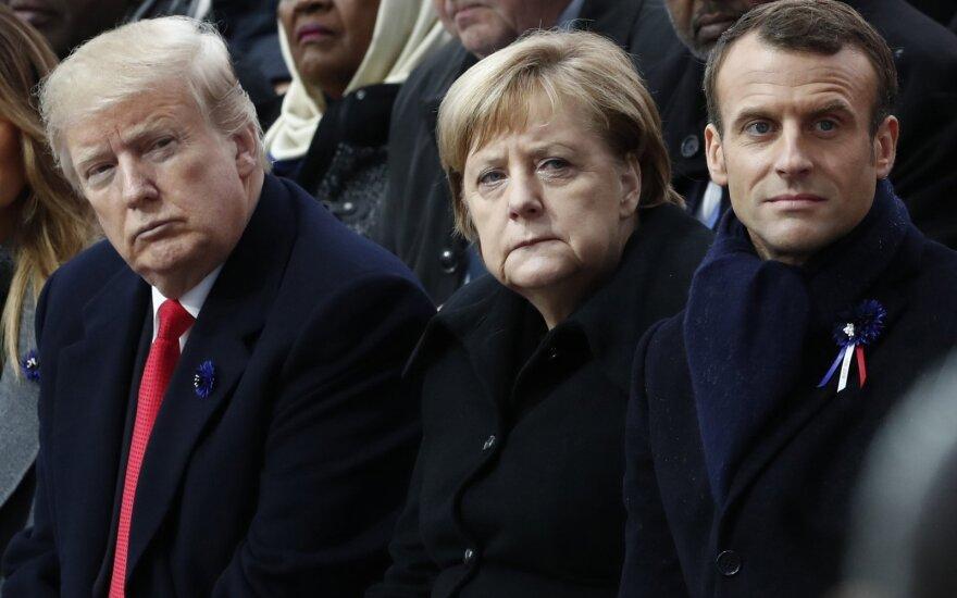 Donaldas Trumpas, Angela Merkel, Emmanuelis Macronas