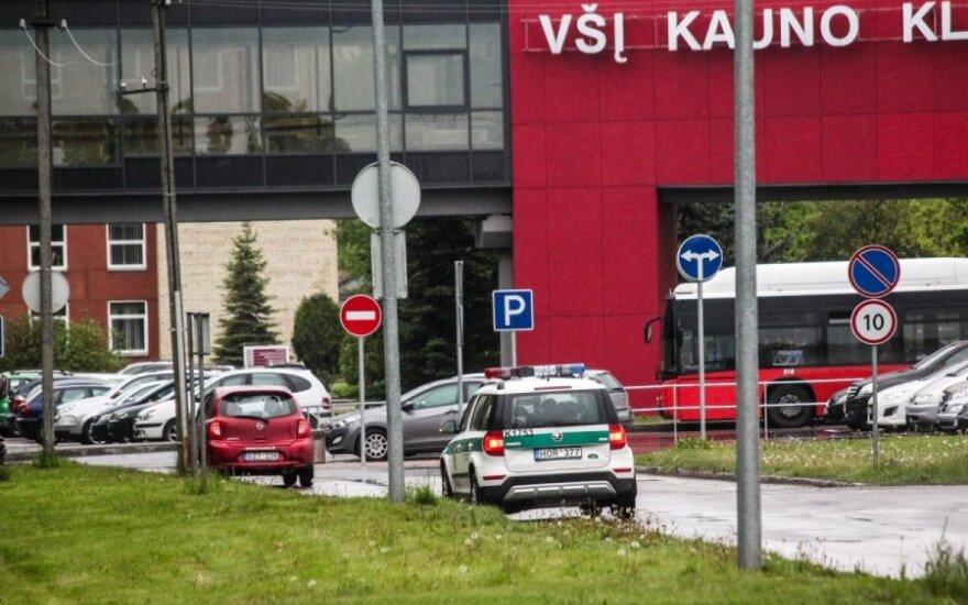 У Каунасской клиники молодой человек угрожал взорвать себя