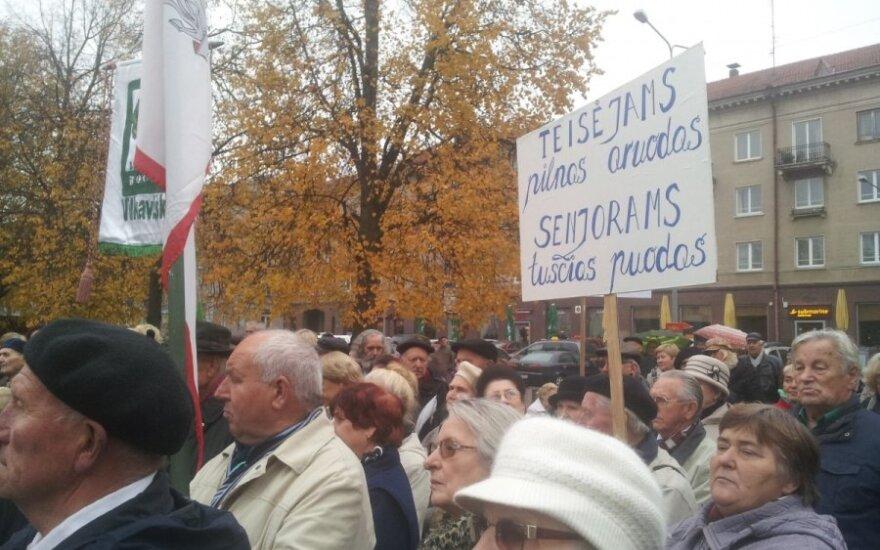 В Вильнюсе пройдет митинг пенсионеров