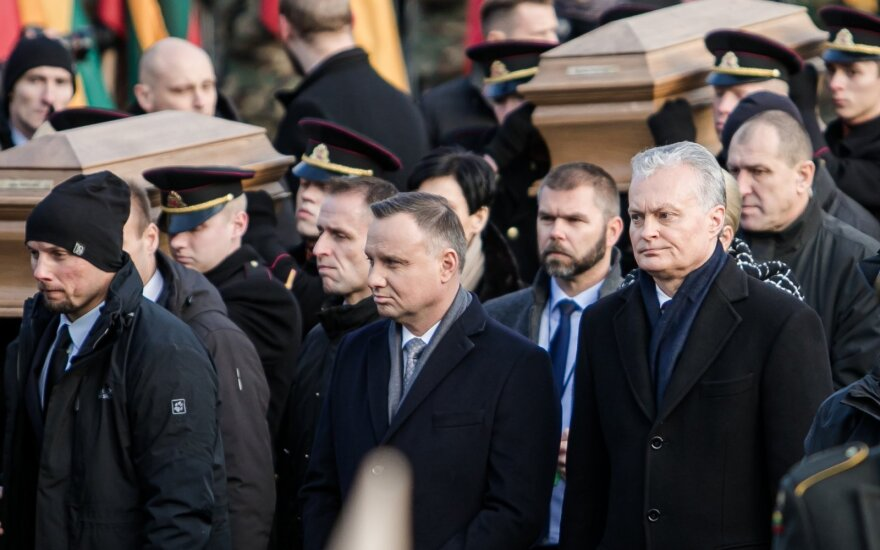 Науседа на похоронах лидеров восстания: общее прошлое вдохновляет на сотрудничество