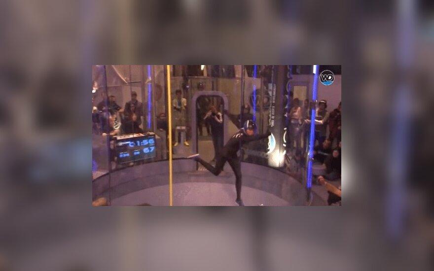 ВИДЕО: В Испании прошел необычный чемпионат по танцам в аэротубе