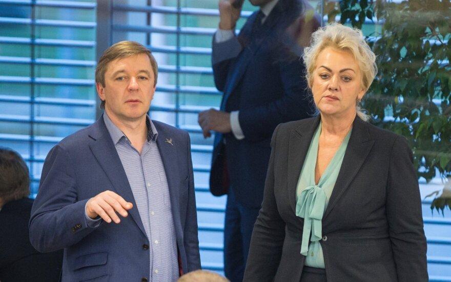 Ramūnas Karbauskis ir Irina Rozova