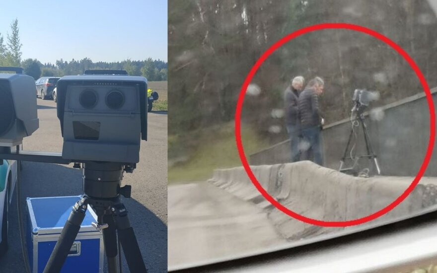 Vairuotojai užfiksavo naujuosius greičio matuoklius Vilniaus gatvėse