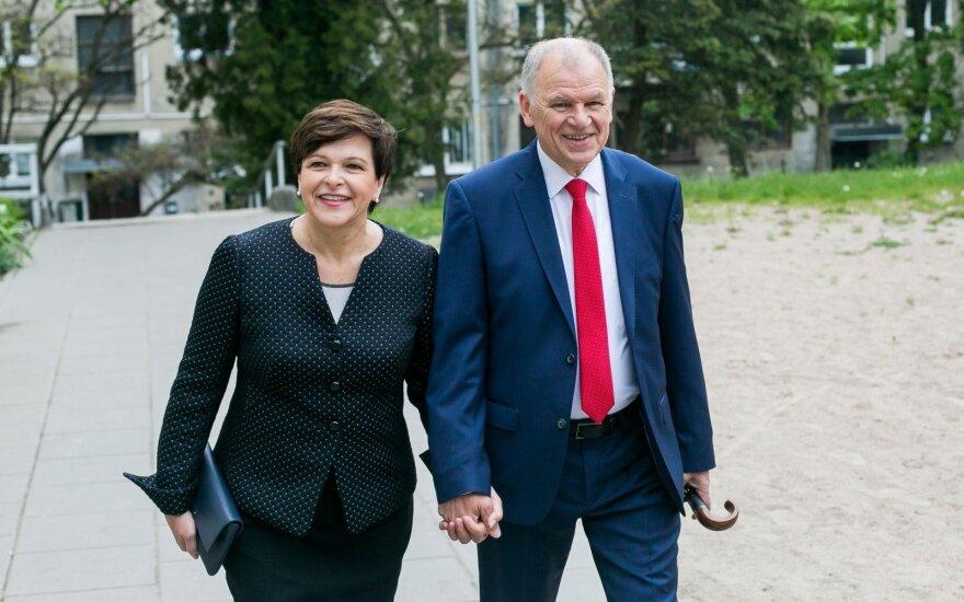Vytenis Povilas Andriukaitis su žmona