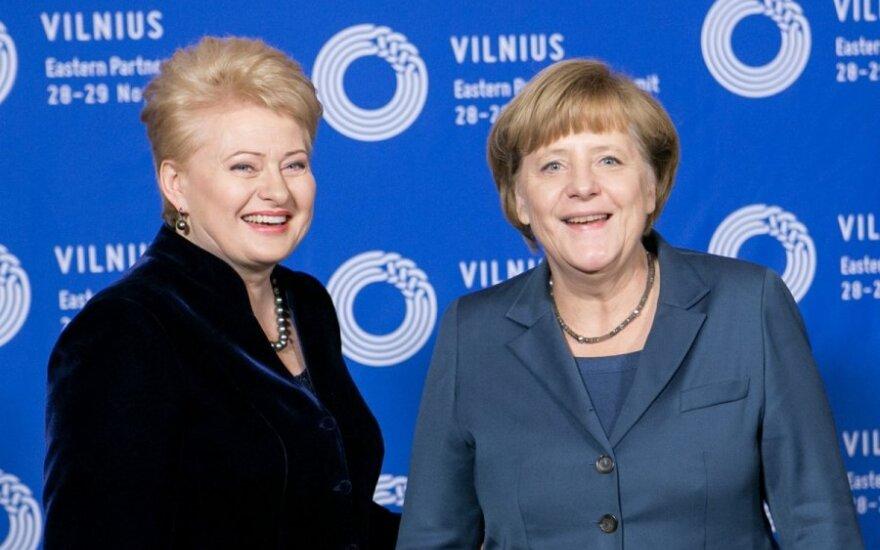 Грибаускайте примет участие в конгрессе партии Меркель