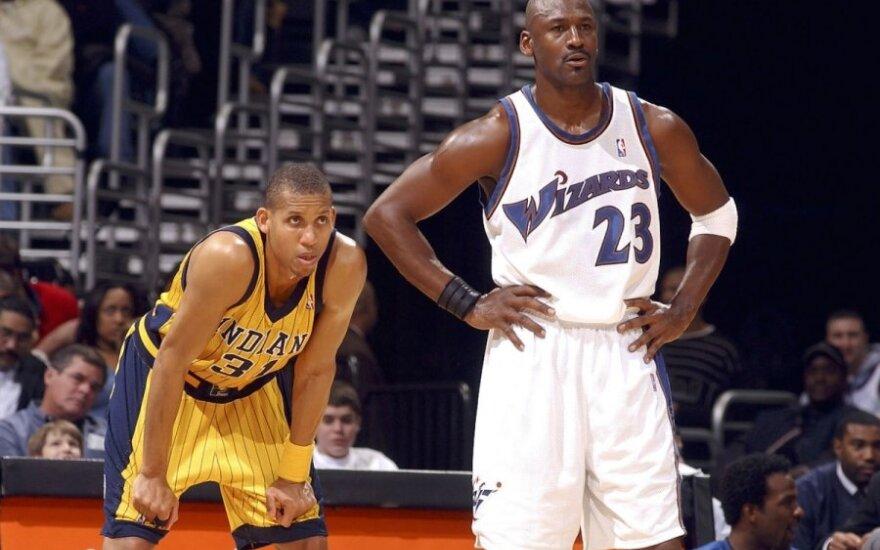 Reggie Milleris ir Michaelas Jordanas