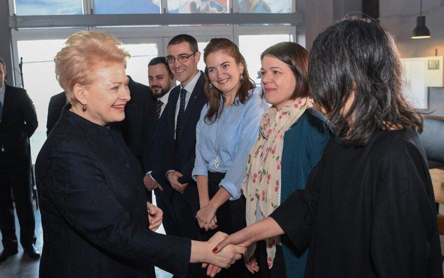 Prezidentė susitinka su Lietuvoje gyvenančias užsieniečiais