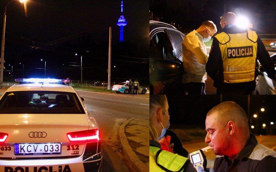 Ночной рейд в Вильнюсе: рекордсмен на BMW, нетрезвому цыгану пришлось продолжать путь пешком