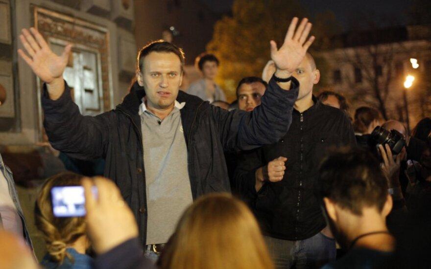В центре Москвы задержаны Собчак и Навальный