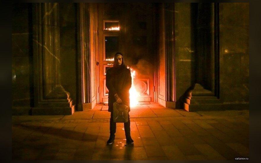 Павленского освободили в зале суда, присудив штраф в 500 000 рублей