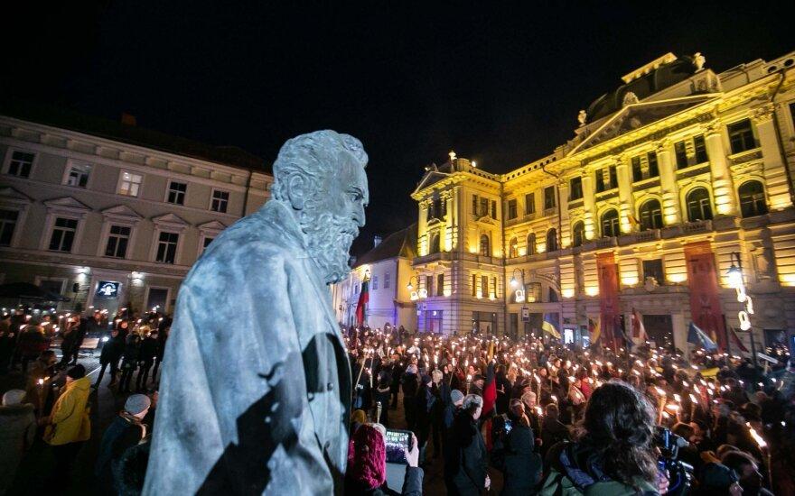 В Вильнюсе состоялось шествие националистической молодежи