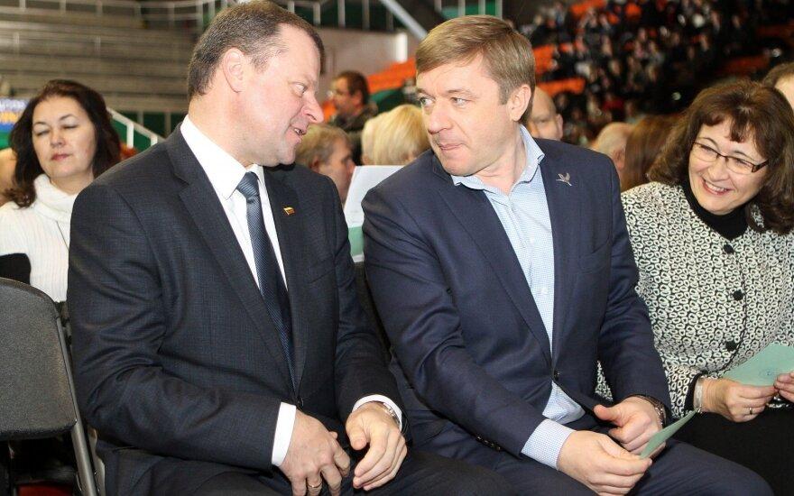 Saulius Skvernelis ir Ramūnas Karbauskis