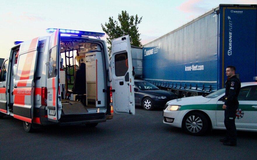 В Вильнюсе произошло ДТП, причина - проблемы со здоровьем у водителя
