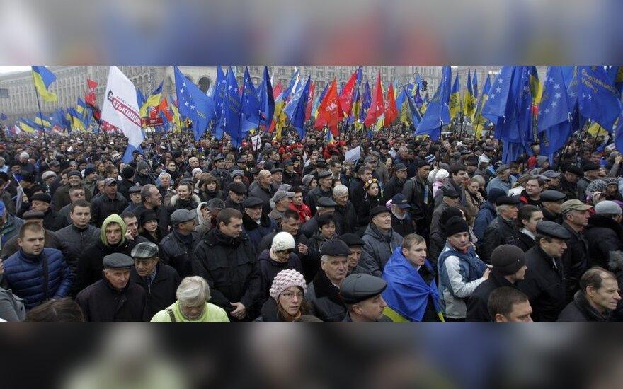 Na wiec w Kijowie przyszło 500 000 ludzi