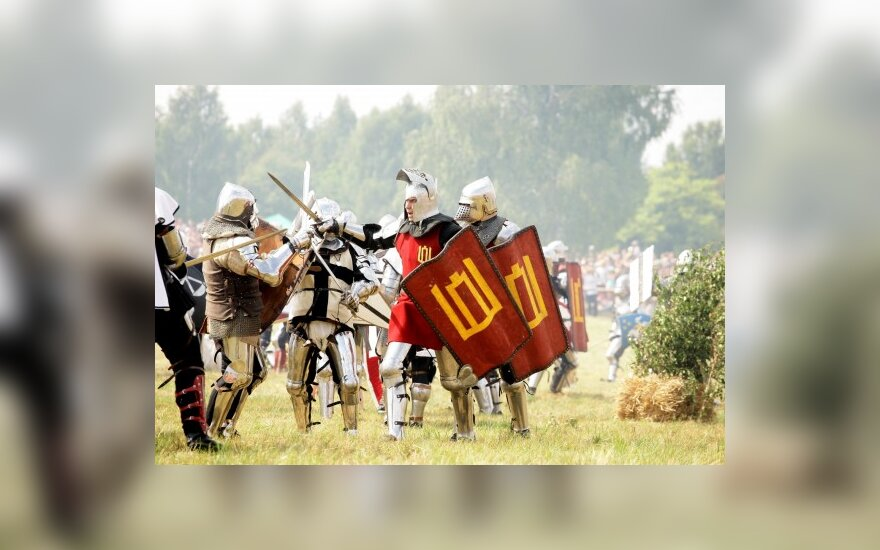 В Грюнвальдской битве - литовские Смоленские полки