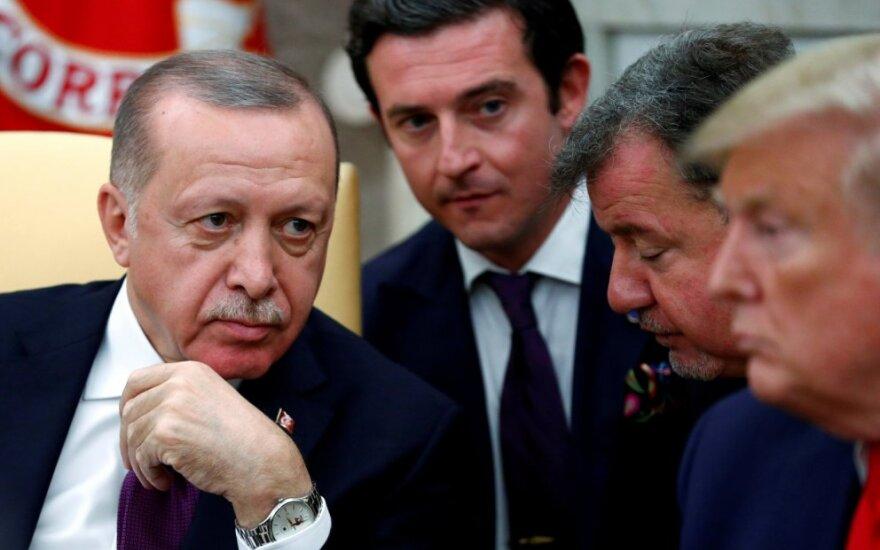 Recepas Tayyipas Erdoganas susitinka su Donaldu Trumpu