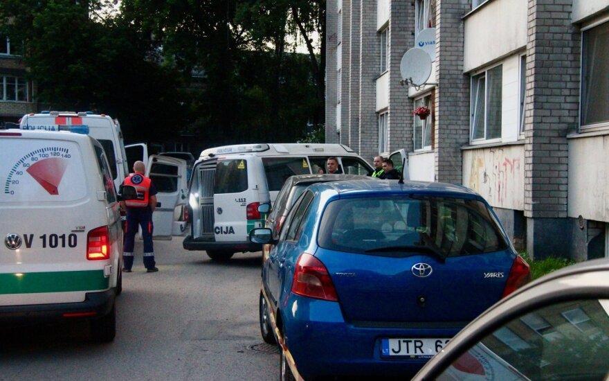 В печально известном вильнюсском общежитии произошло несчастье