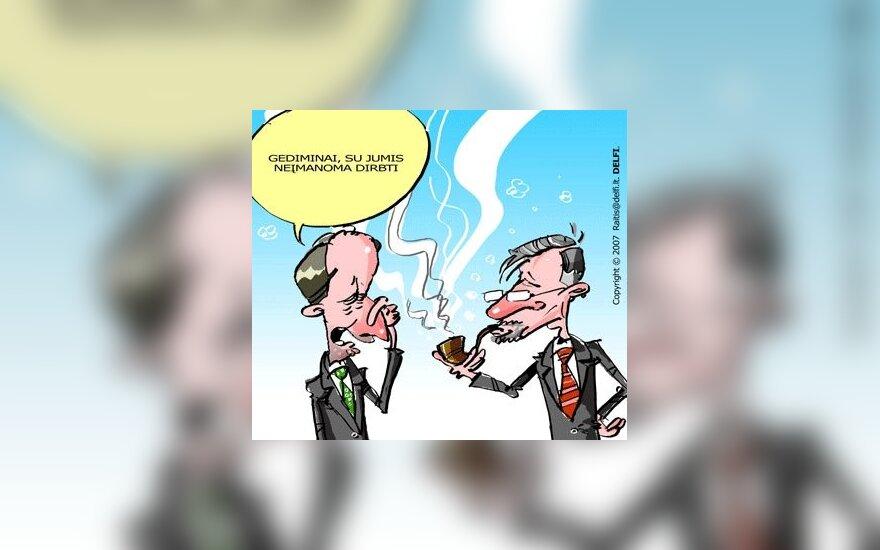 Konservatoriai, A.Kubilius, G.Kirkilas, Vyriausybė, karikatūra