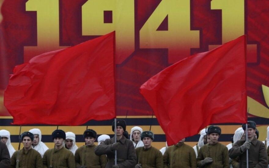 На Красной площади реконструировали военный парад 1941 года