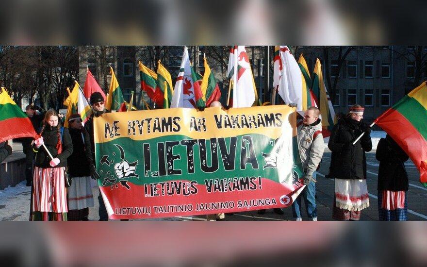 """Шествие в Каунасе: лозунги """"Литва – литовцам!"""", избит пакистанец"""