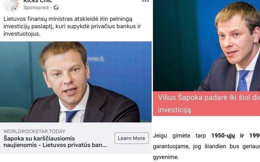Informacinis išpuolis prieš finansų ministrą Vilių Šapoką