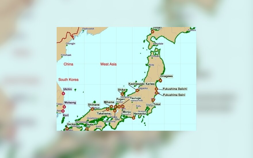 Japonijos atominės elektrinės www.insc.anl.gov
