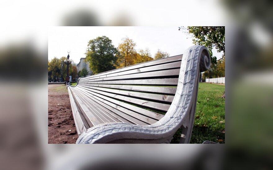 Километровая скамья – к тысячелетию Литвы