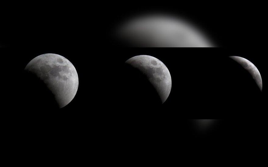 В Литве полное лунное затмение наблюдать мешали облака