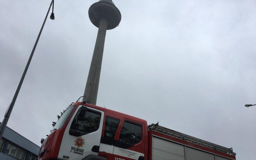 Из-за опасности пожара с телебашни в Вильнюсе эвакуировали людей