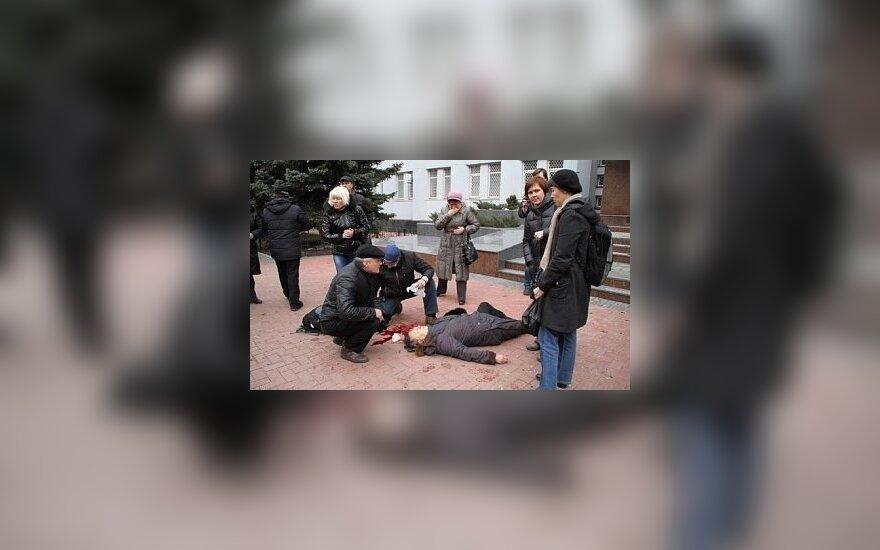 Украина: в Хмельницком во время штурма управления СБУ ранена женщина