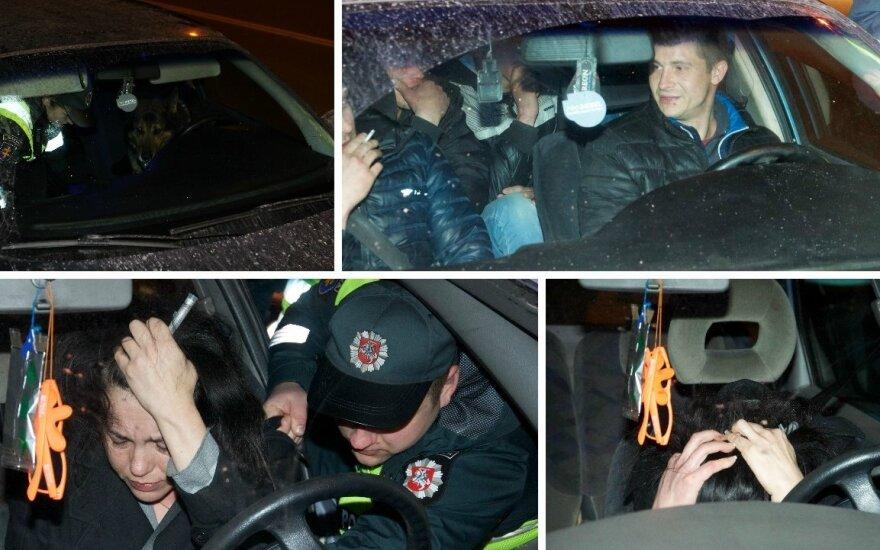 Во время рейда от полиции убегала нетрезвая водитель