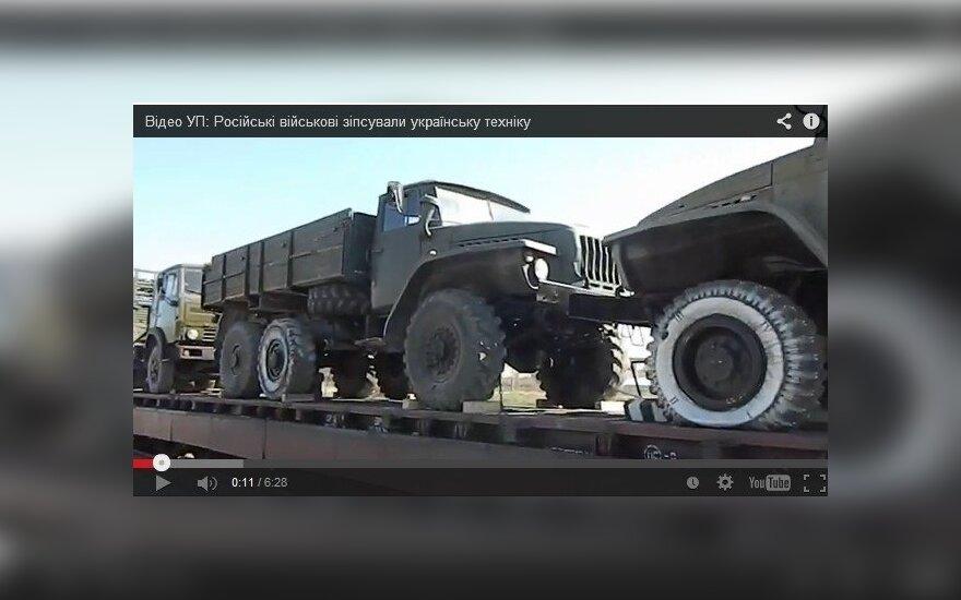 Rusai sugadino Ukrainos karinę techniką