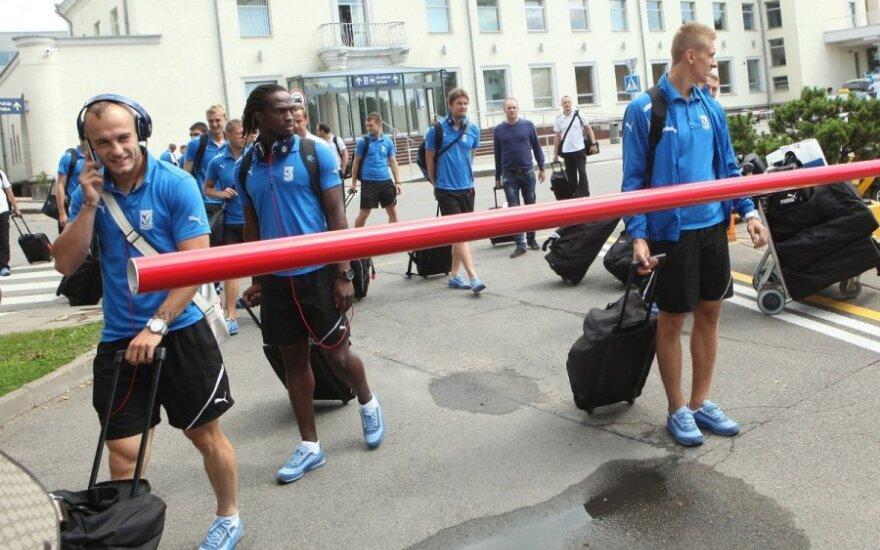 Piłkarze Lecha już w Wilnie